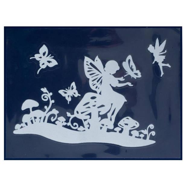 Peha stickerset elfje en vlinders 29,5 x 40 cm 3-delig