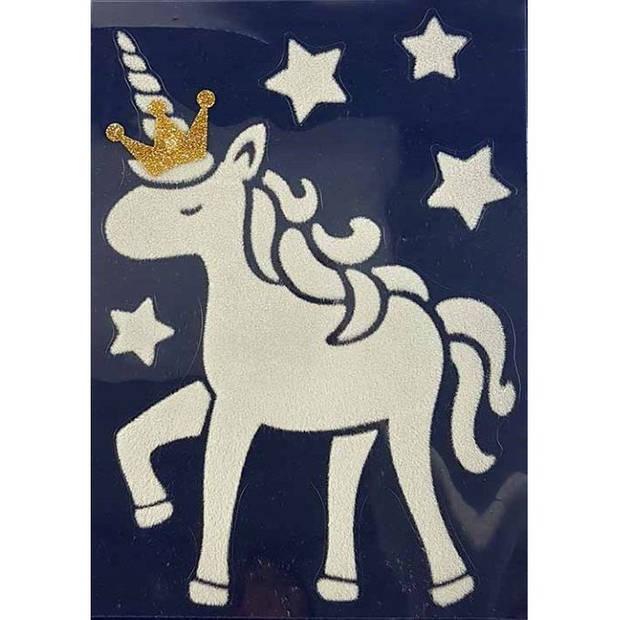 Peha stickervel zwaan met kroon 29,5 x 40 cm wit/goud 6-delig