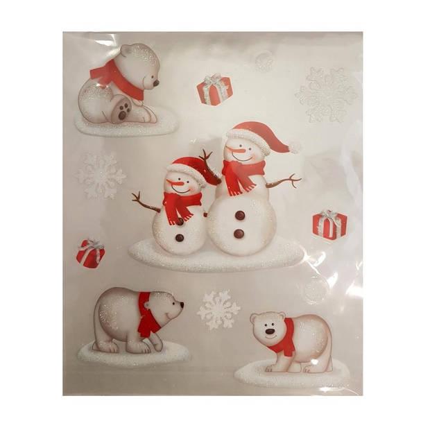 Peha stickervel kerst 28,5 x 34,5 cm wit/rood