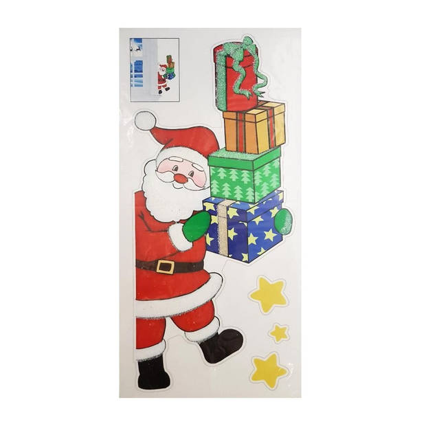 Peha stickervrl kerstman op ladder 23 x 49 cm