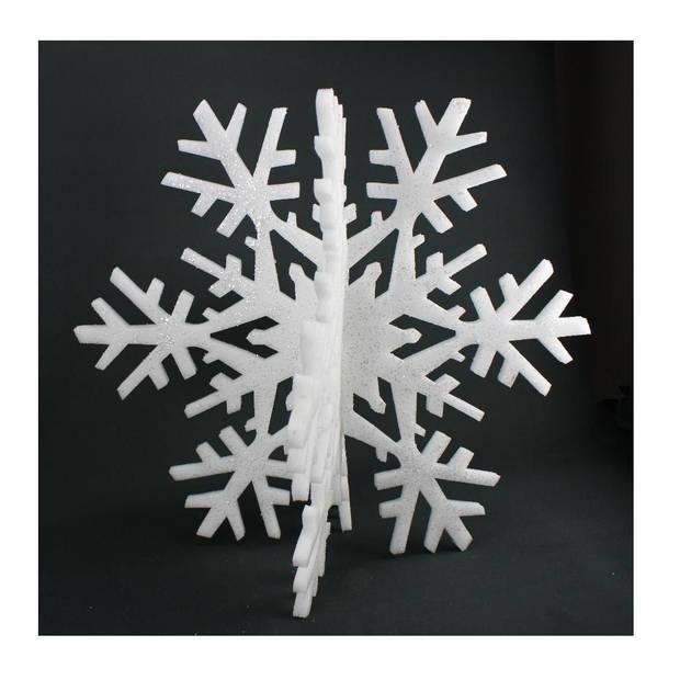 Peha sneeuwvlok 3D 45 cm vilt wit