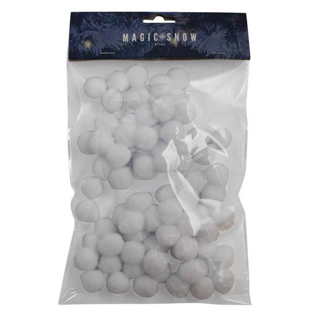 Peha sneeuwballen 2 cm synthetisch wit 80-delig