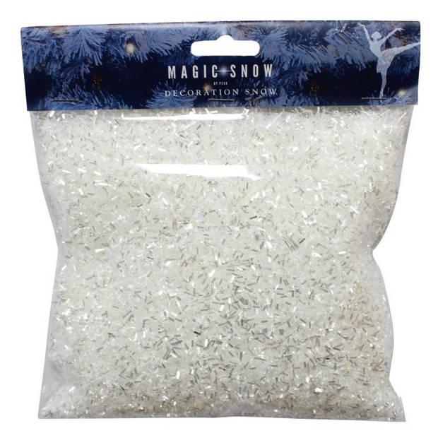Peha poedersneeuw glitter grof 125 gram zilver/wit