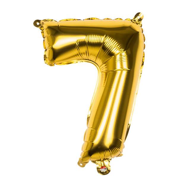 Boland cijferballon 7 folie 66 cm goud