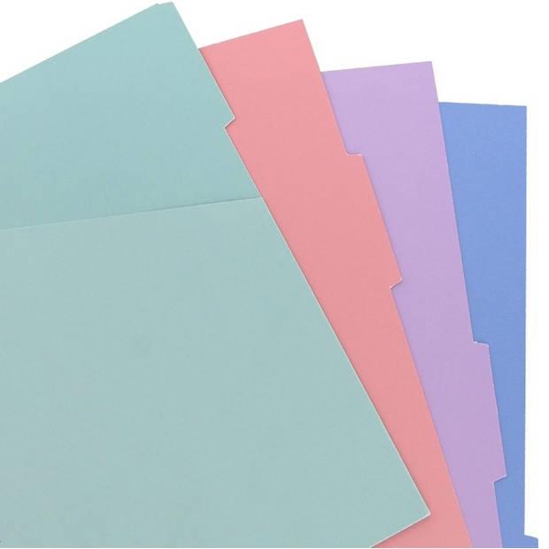 Filofax tabbladen Pocket 14 x 9 cm karton 4-delig