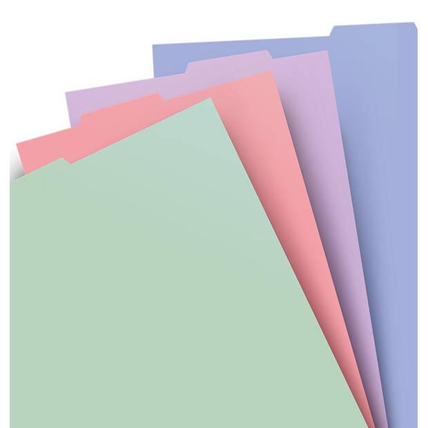 Filofax tabbladen navulling A4 29,7 x 21 cm papier 4-delig