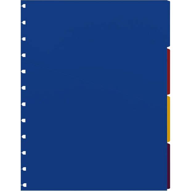 Filofax tabbladen navulling A4 29,7 x 21 cm 4-delig