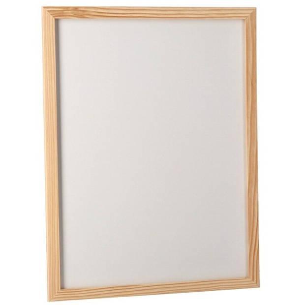 Gerimport whiteboard 30 x 40 cm hout wit/naturel