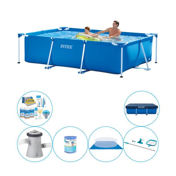 Intex Frame Pool Rechthoekig 260x160x65 cm - Zwembad Combi Deal