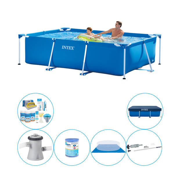 Intex Frame Pool Rechthoekig 260x160x65 cm - Zwembad Inclusief Accessoires