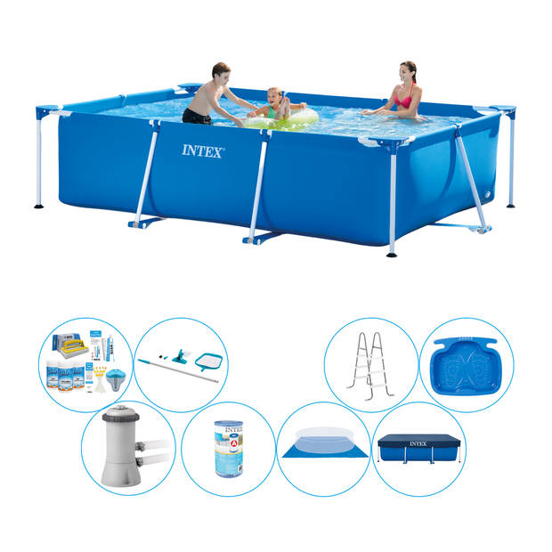 Intex Frame Pool Rechthoekig 300x200x75 cm - Zwembad Bundel
