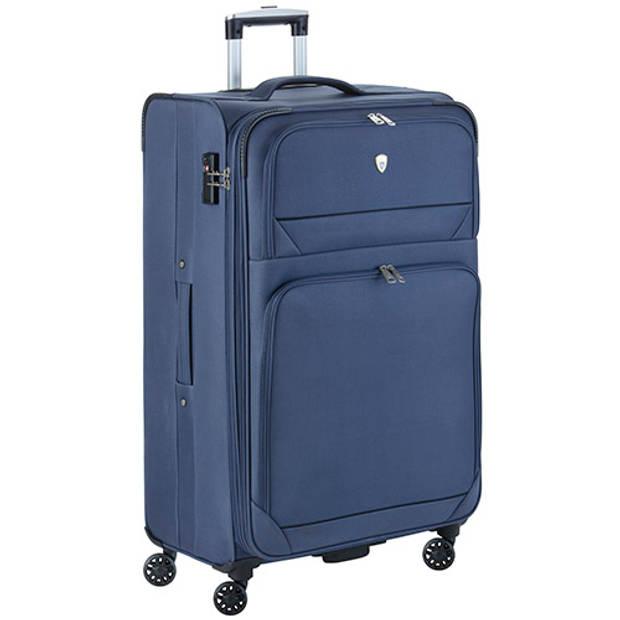 Cambridge 325 XL Grote Reiskoffer - 83cm met TSA-slot – Expander - Voorvakken - Blauw