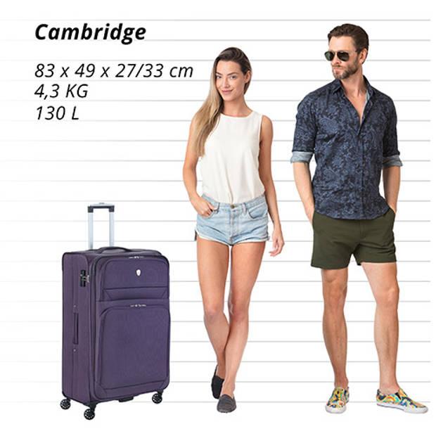 Cambridge 325 XL Grote Reiskoffer - 83cm met TSA-slot – Expander - Voorvakken - Paars