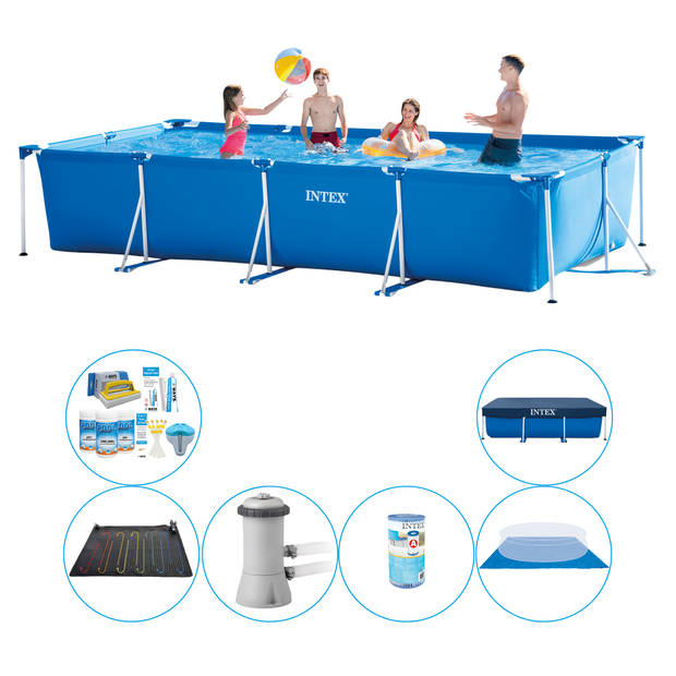 Intex Frame Pool Rechthoekig 450x220x84 cm - Zwembad Plus Accessoires