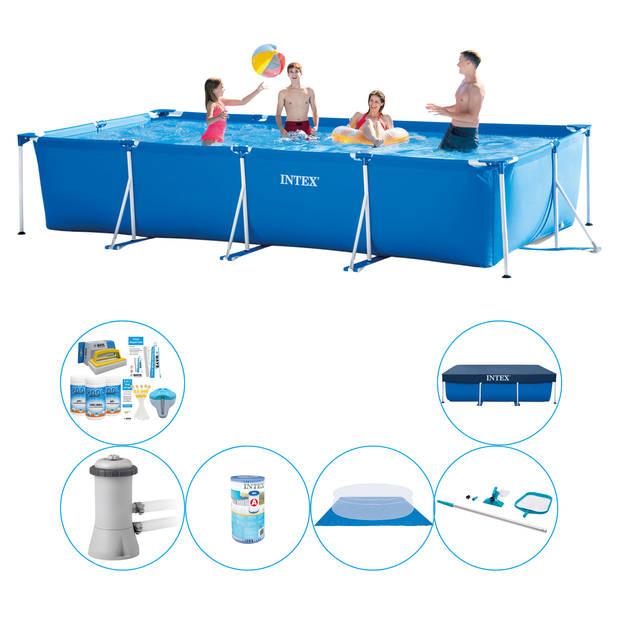 Intex Frame Pool Rechthoekig 450x220x84 cm - Zwembad Combi Deal