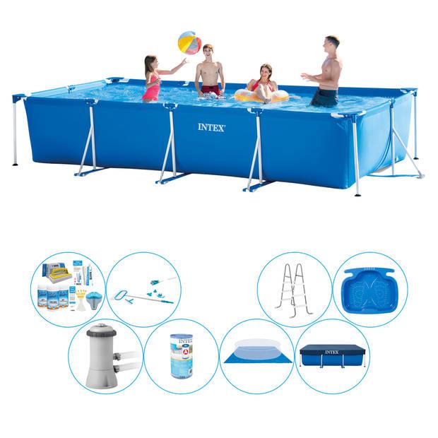 Zwembad Comfort Pakket - Intex Frame Pool Rechthoekig 450x220x84 cm