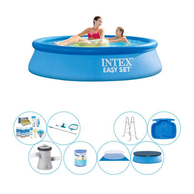 Alles in 1 Zwembad Pakket - Intex Easy Set Rond 244x61 cm