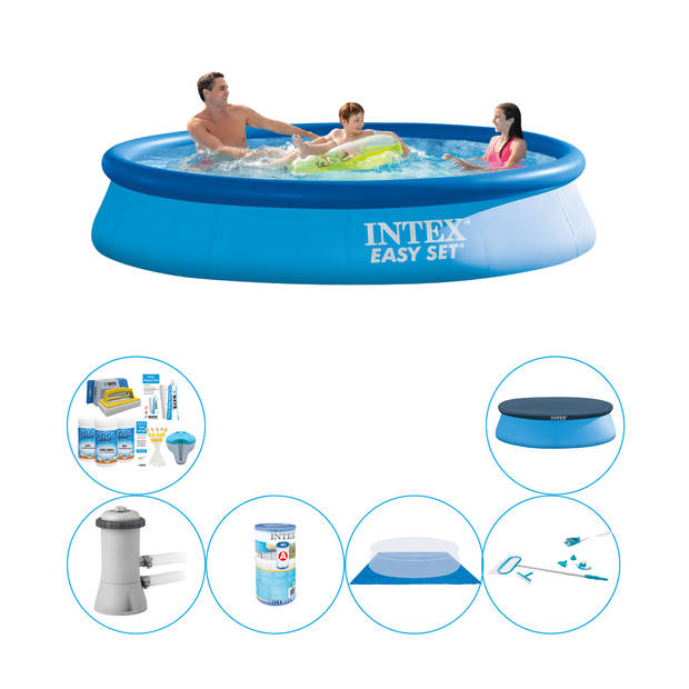 Zwembad Inclusief Accessoires - Intex Easy Set Rond 366x76 cm