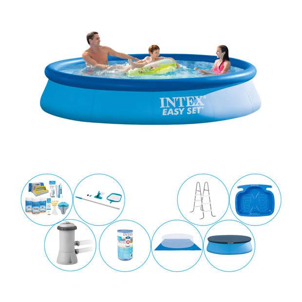 Alles in 1 Zwembad Pakket - Intex Easy Set Rond 366x76 cm