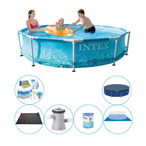 Zwembad Plus Accessoires - Intex Metal Frame Rond Strandzijde 305x76 cm