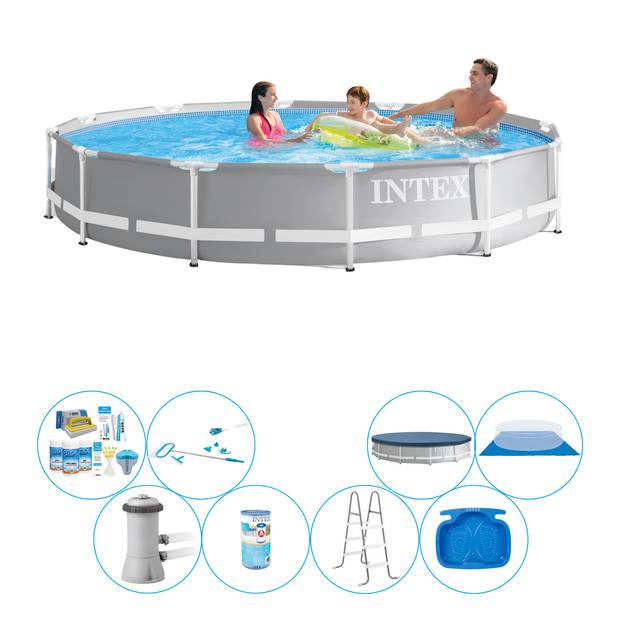 Alles in 1 Zwembad Pakket - Intex Prism Frame Rond 366x76 cm