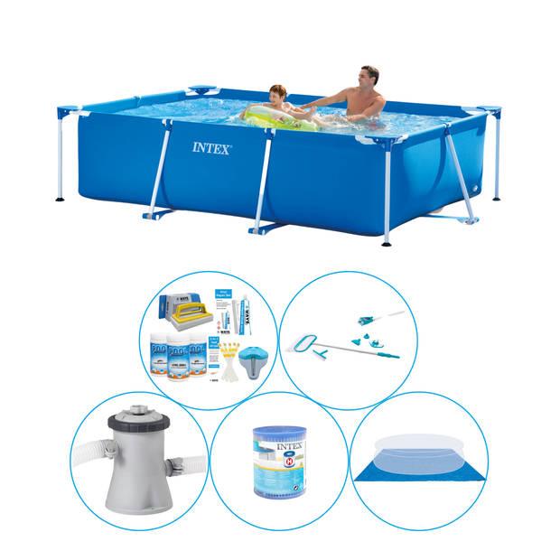 Intex Frame Pool Rechthoekig 260x160x65 cm - 6-delig - Zwembad Met Accessoires