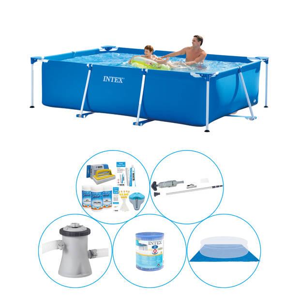 Intex Frame Pool Rechthoekig 260x160x65 cm - 6-delig - Zwembad Inclusief Accessoires