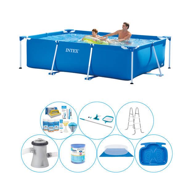 Intex Frame Pool Rechthoekig 260x160x65 cm - 8-delig - Zwembad Bundel
