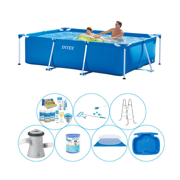 Intex Frame Pool Rechthoekig 260x160x65 cm - 8-delig - Alles in 1 Zwembad Pakket