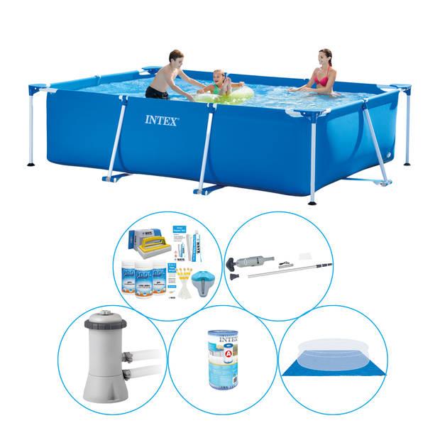 Intex Frame Pool Rechthoekig 300x200x75 cm - 6-delig - Zwembad Inclusief Accessoires