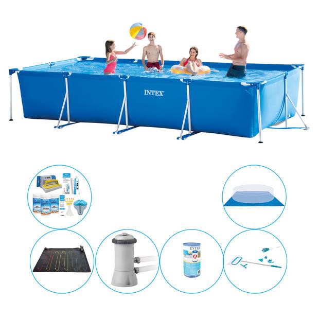 Intex Frame Pool Rechthoekig 450x220x84 cm - 7-delig - Zwembad Set
