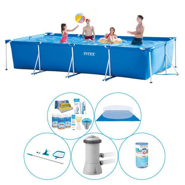 Intex Frame Pool Rechthoekig 450x220x84 cm - 6-delig - Zwembad Combi Deal