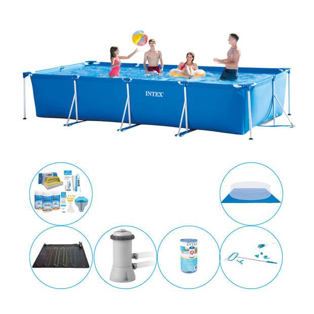 Zwembad Deal - 7-delig - Intex Frame Pool Rechthoekig 450x220x84 cm