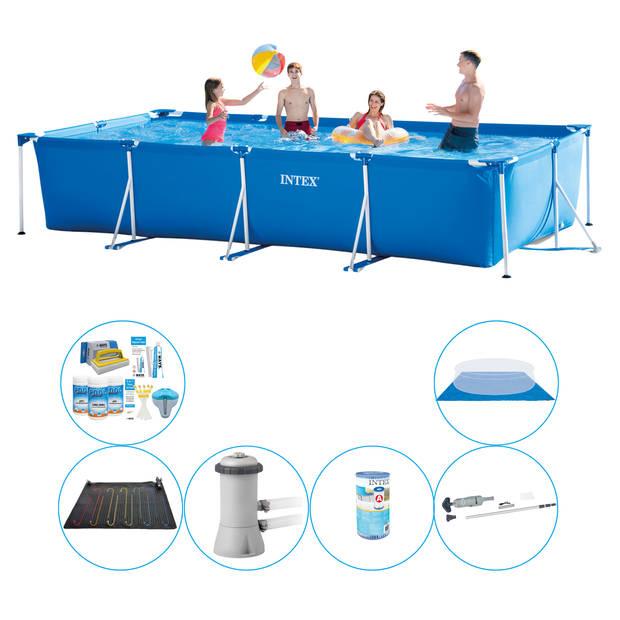 Zwembad Plus Accessoires - 7-delig - Intex Frame Pool Rechthoekig 450x220x84 cm