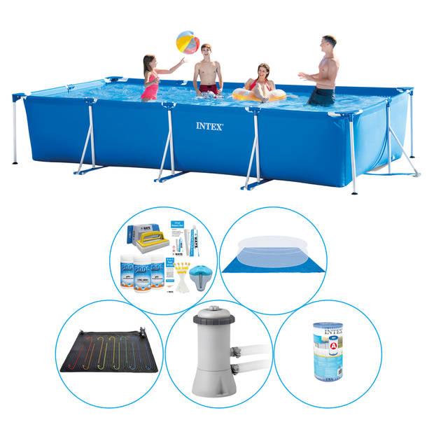 Zwembad Combi Deal - 6-delig - Intex Frame Pool Rechthoekig 450x220x84 cm