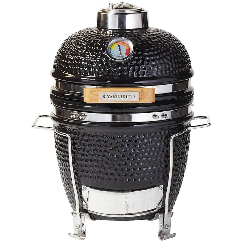 Yakiniku Barbecue Houtskool 11 Inch Keramiek/rvs Zwart