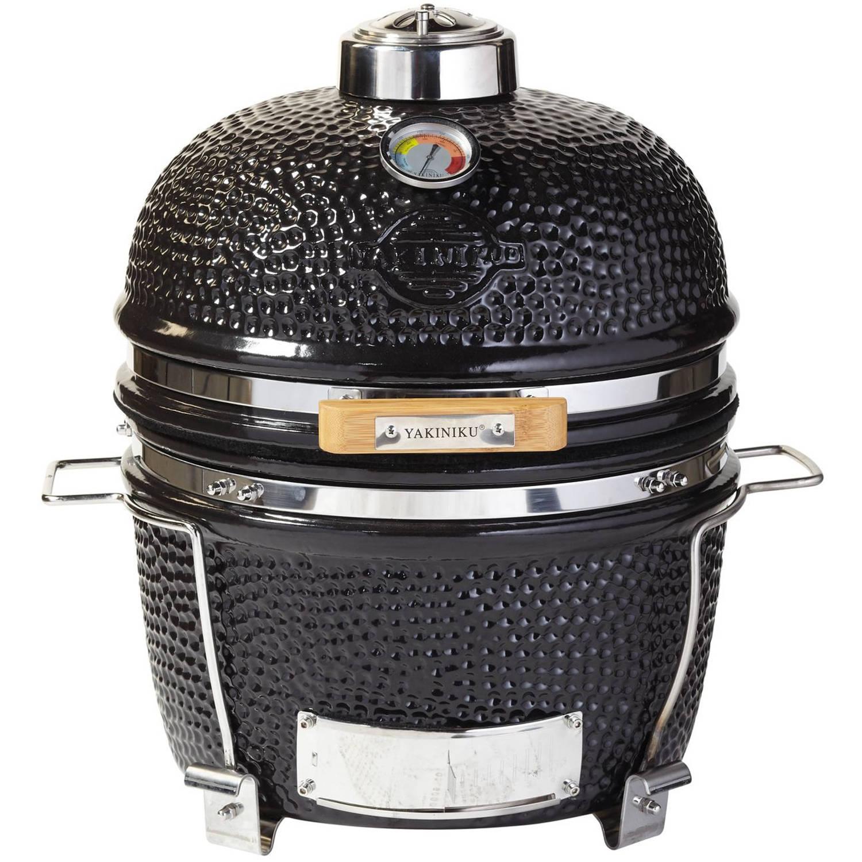 Yakiniku Houtskoolbarbecue Kamado 14 Inch Keramiek/rvs