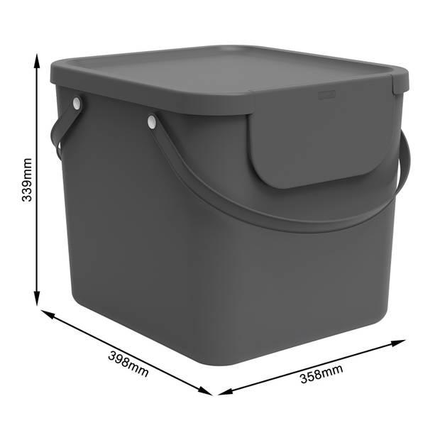 Blokker afvalsorteerder 40L Antraciet