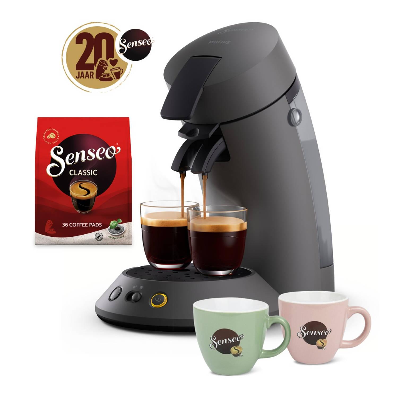 Korting Philips Senseo® Original Plus Koffiepadmachine Csa210 55 Donkergrijs