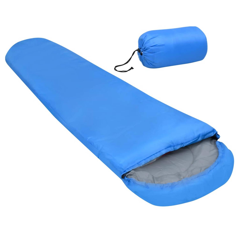 vidaXL Slaapzak lichtgewicht 15 ℃ 850 g blauw