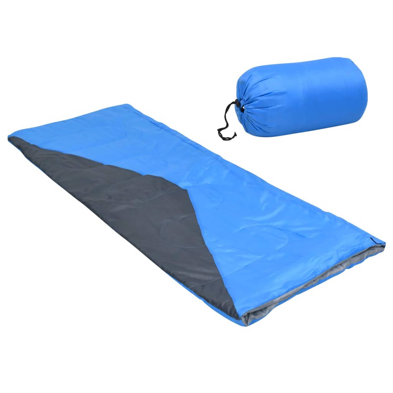 vidaXL Slaapzak envelop lichtgewicht 10 ℃ 1100 g blauw