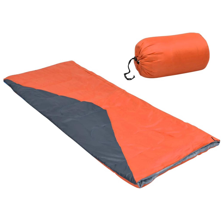 vidaXL Slaapzak envelop lichtgewicht 10 ℃ 1100 g oranje