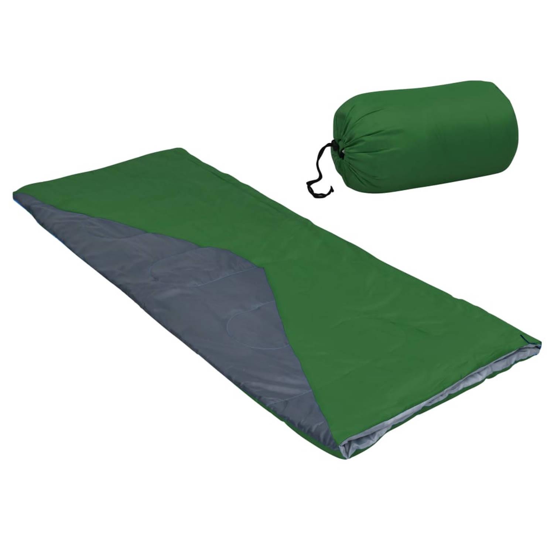 vidaXL Slaapzakken 2 st envelop lichtgewicht 10 ℃ 1100 g groen