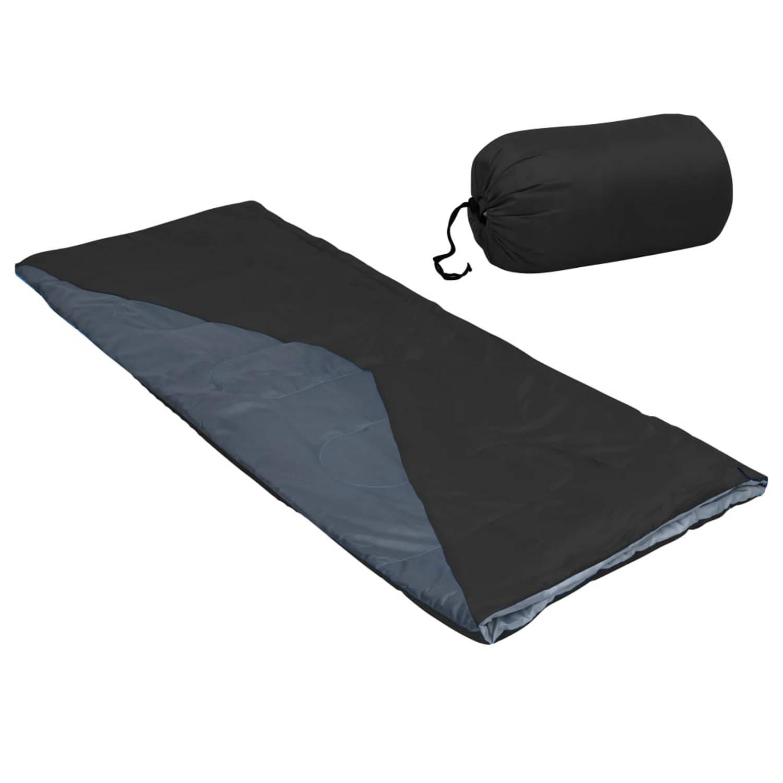 vidaXL Slaapzak envelop lichtgewicht 10 ℃ 1100 g zwart