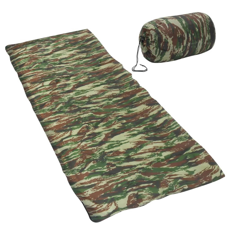 vidaXL Slaapzak envelop lichtgewicht 10 ℃ 1100 g camouflage