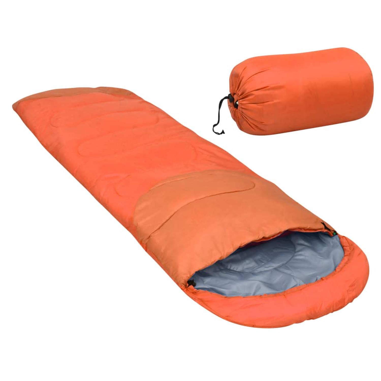 vidaXL Slaapzak lichtgewicht 15 ℃ 850 g oranje