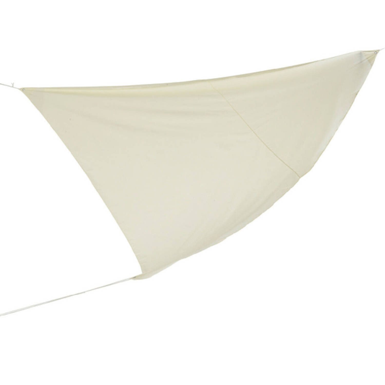 Schaduwdoek zonnescherm Driehoek Wit 36 X 36 X 36 Meter