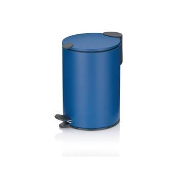 Korting Pedaal Afvalemmer, 3 L, Oceaan Blauw Kela Mats