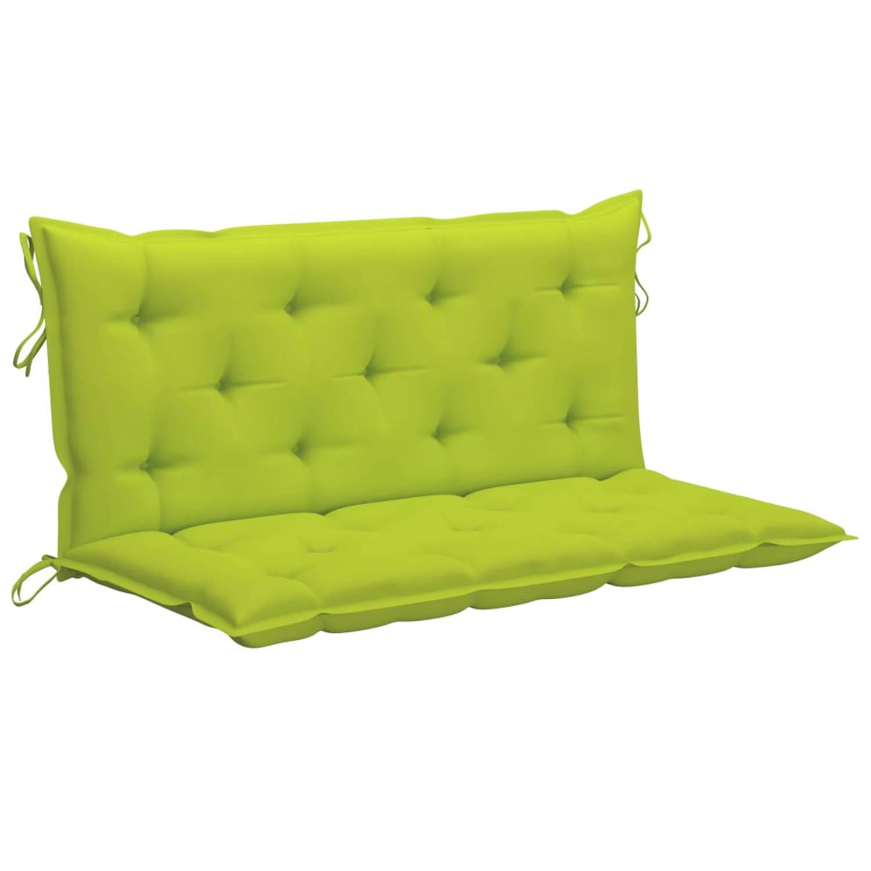 Vidaxl Kussen Voor Schommelstoel 120 Cm Stof Heldergroen