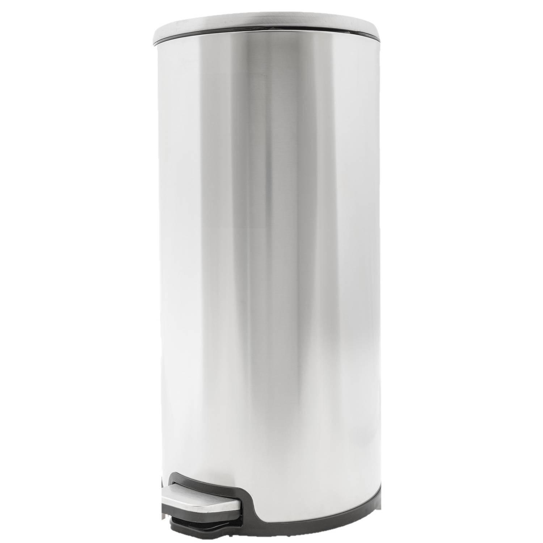 Vuilnisbak/pedaalemmer Zilver 20 Liter 52 Cm Rvs - Afvalemmers - Prullenbakken